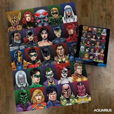 Dc comics faces puzzle 1000p