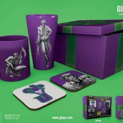 Dc comics gift box chope mug 2 dessous de verre joker