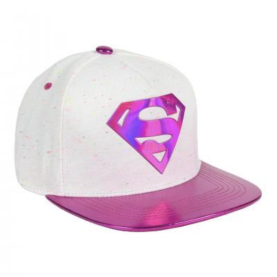 Dc comics iridescent pink superman logo snapback cap