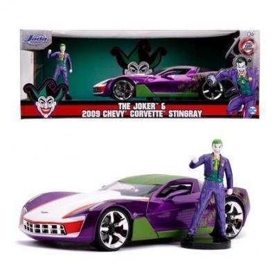 Dc comics joker 2009 chevy corvette stingray 1 24