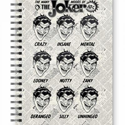 Dc comics joker faces cahier spirale a5