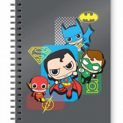 Dc comics justice league chibi cahier spirale a5