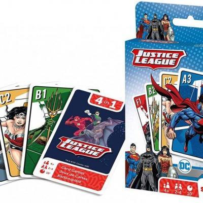 Dc comics justice league jeu de cartes 4 en 1