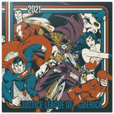 Dc comics justice league of america calendrier 2021 30x30cm
