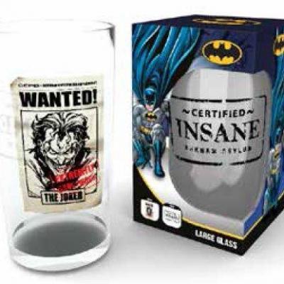 Dc comics large glasses 500ml joker wanted