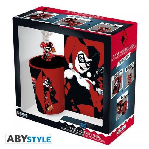Dc comics pack mug porte cles cahier harley quinn