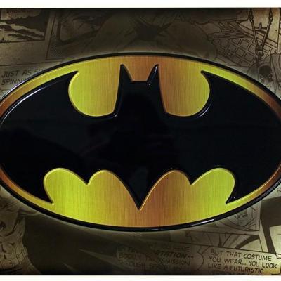 Dc comics plaque metal 28 x 38 batman