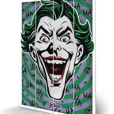 Dc comics the joker hahaha impression sur bois 40x59cm