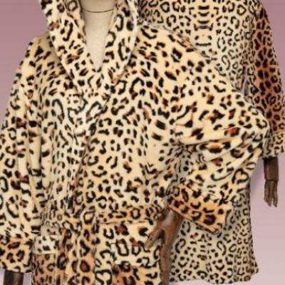 Dc comics wonder woman cheetah peignoir en flanelle