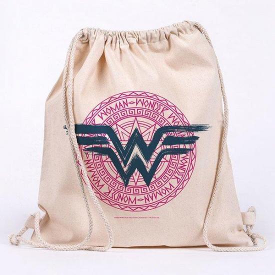 Dc comics wonder woman sac en toile 100 coton 42x37cm