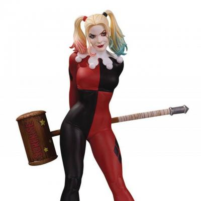 Dc cover girls harley quinn by frank cho statuette 23cm 1