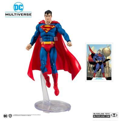 Dc rebirth superman action comics 1000 figurine articulee 18cm