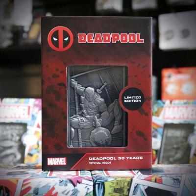 Deadpool 30th anniversary lingot en metal collector 9x12 5x2 5cm