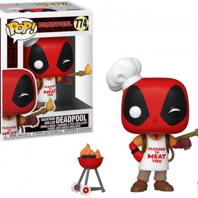 Deadpool 30th bobble head pop n 774 backyard griller deadpool