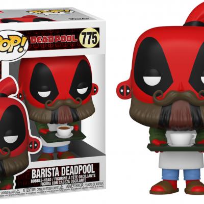 Deadpool 30th bobble head pop n 775 coffee barista deadpool