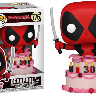 Deadpool 30th bobble head pop n 776 deadpool in cake