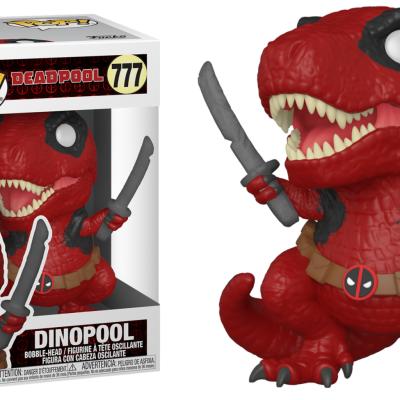 Deadpool 30th bobble head pop n 777 dinopool