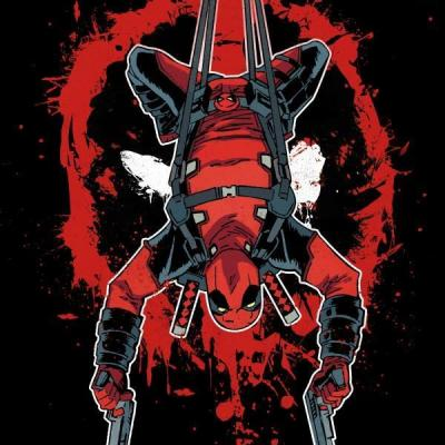 Deadpool merc magnetic metal poster 15x10 hang in there