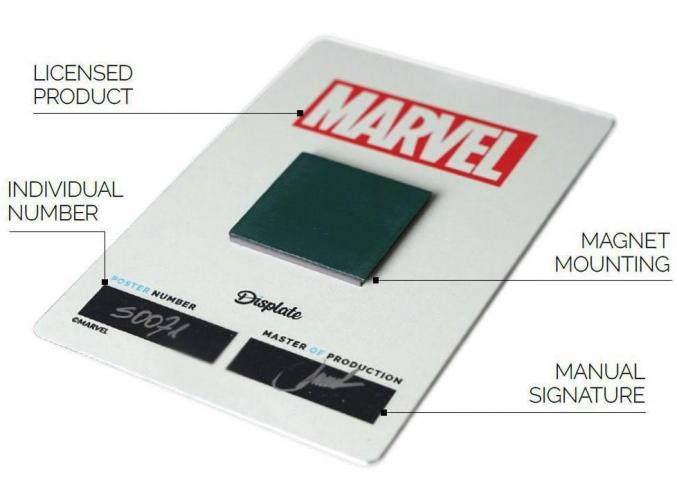 Deadpool merc magnetic metal poster 15x10 here he comes 2