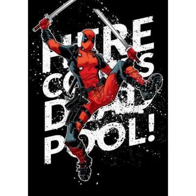 Deadpool merc magnetic metal poster 15x10 here he comes 3