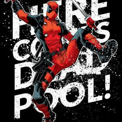 Deadpool merc magnetic metal poster 15x10 here he comes