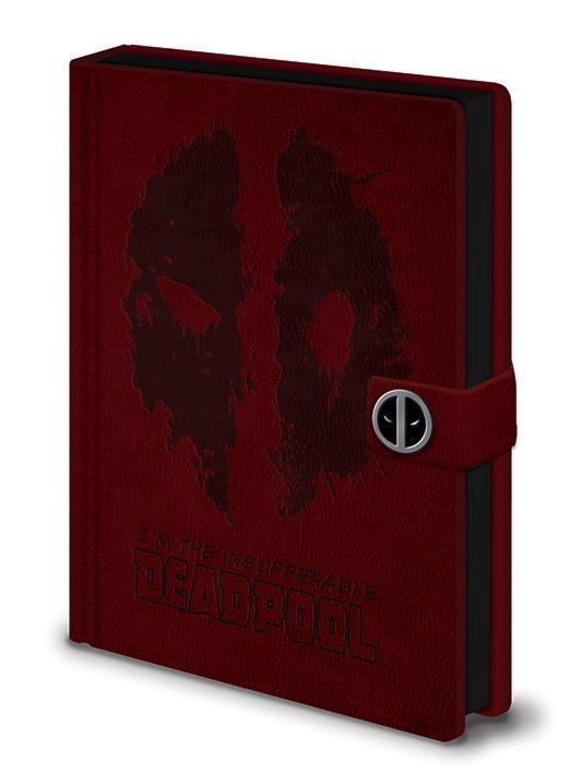 Deadpool notebook a5 premium splat