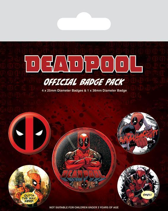 Deadpool pack 5 badges deadpool