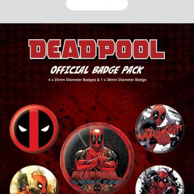 Deadpool pack 5 badges deadpool