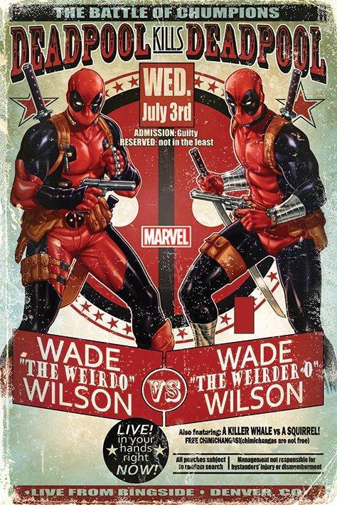 Deadpool poster 61x91 wade vs wade
