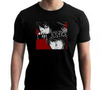 Death note i am justice t shirt homme 1