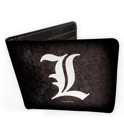 Death note portefeuille vinyle l symbol