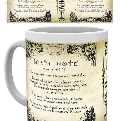 Death note rules mug 315ml 1
