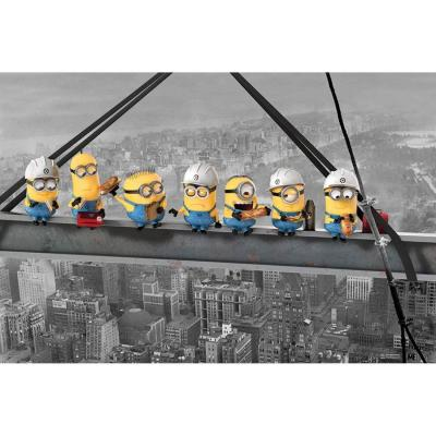 Despicable me poster 61x91 minions lunch on a skycraper