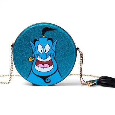 Disney aladdin genie round glitter shoulerbag
