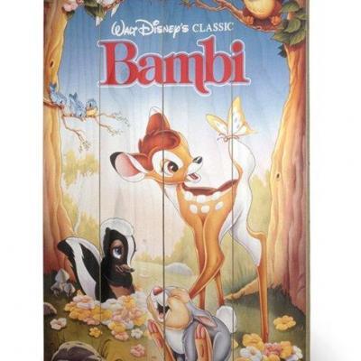 Disney bambi impression sur bois 40x59cm