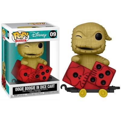 Disney bobble head pop n 09 oogie in dice cart pop train