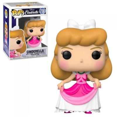 Disney cendrillon bobble head pop n 738 cendrillon en robe rose
