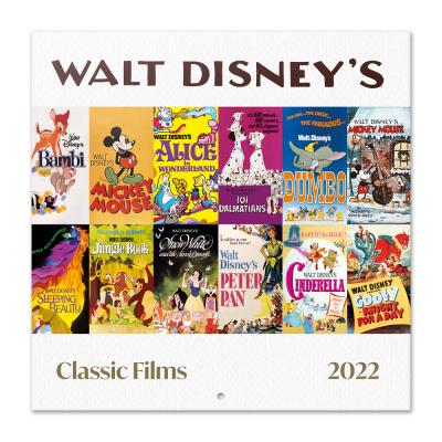 Disney classic films calendrier 2022 30x30cm