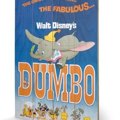 Disney dumbo impression sur bois 40x59cm