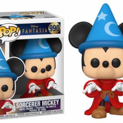 Disney fantasia 80th bobble head pop n 990 sorcerer mickey