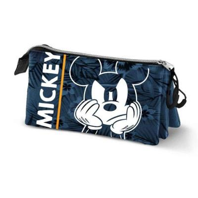 Disney mickey blue trousse triple 23x10x5cm