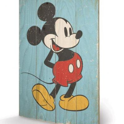 Disney mickey mouse retro impression sur bois 40x59cm