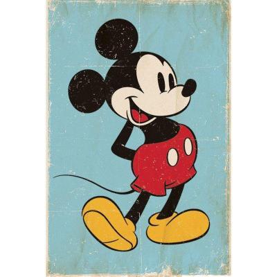 Disney mini poster 40x50 mickey mouse retro