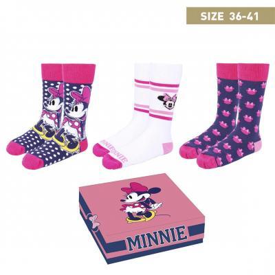 Disney minnie pack de 3 paires de chaussettes