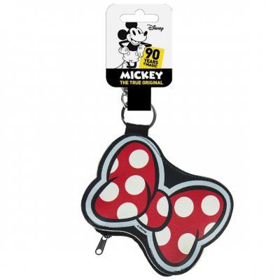 Disney minnie ribbon porte cles porte monnaie