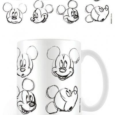 Disney mug 300 ml mickey mouse sketch faces