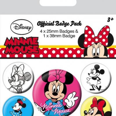 Disney pack 5 badges minnie mouse