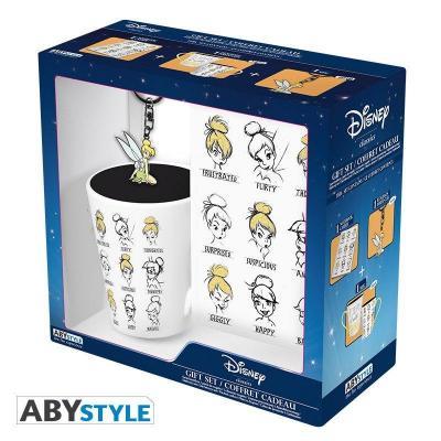 Disney pack mug porte cles cahier fee clochette