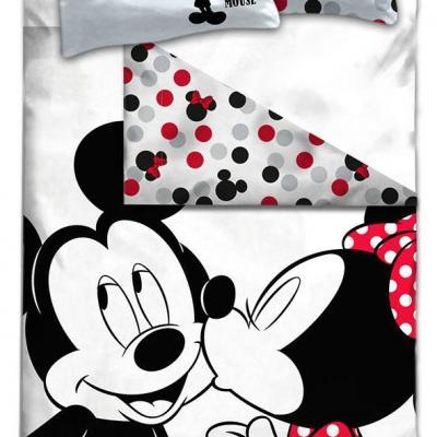 Disney parure de lit 140x200 mickey minnie 100 cotton