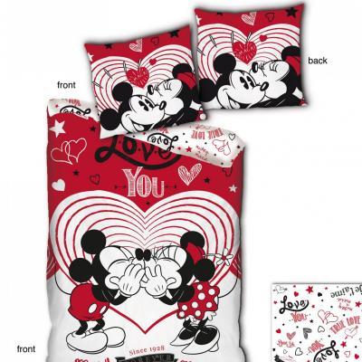 Disney parure de lit 140x200cm love you 100 microfibre